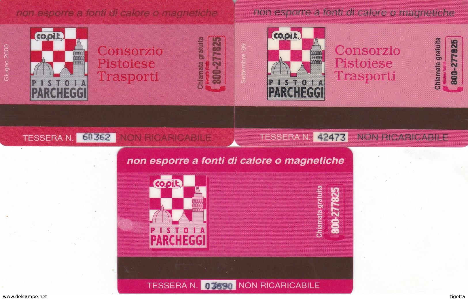CITTA DI PISTOIA COPIT  CARD PARCHEGGI - Tickets - Entradas