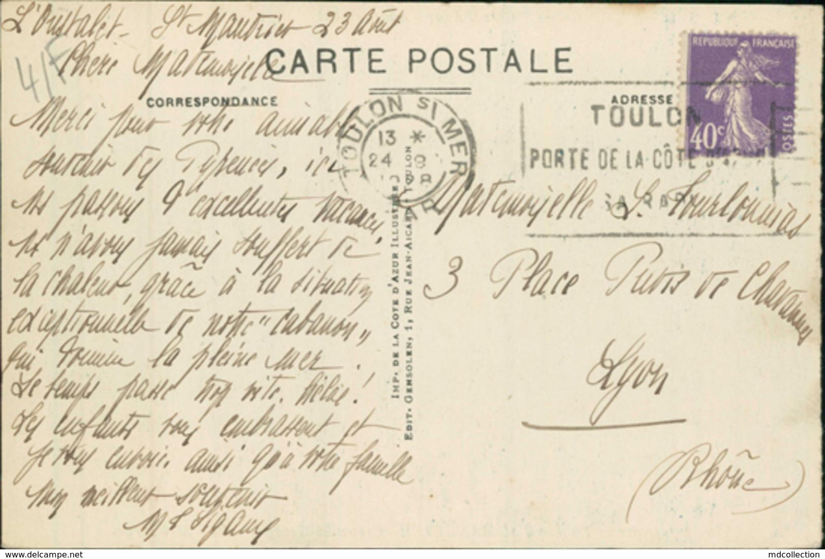 83 SAINT MANDRIER / Creux Saint Georges / - Saint-Mandrier-sur-Mer