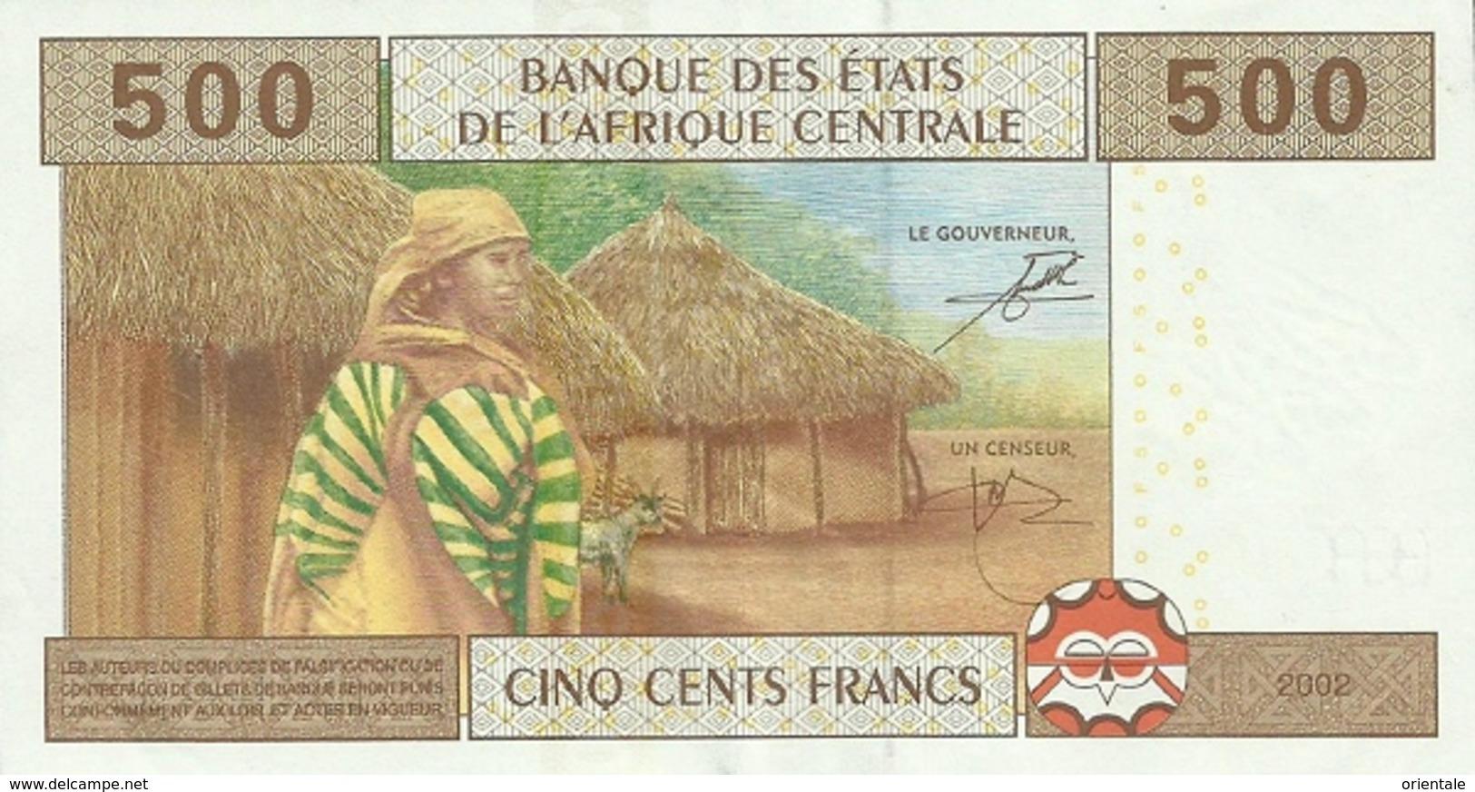 CENTRAL AFRICAN STATES P. 106Tb  500 F 2002 UNC - República Del Congo (Congo Brazzaville)
