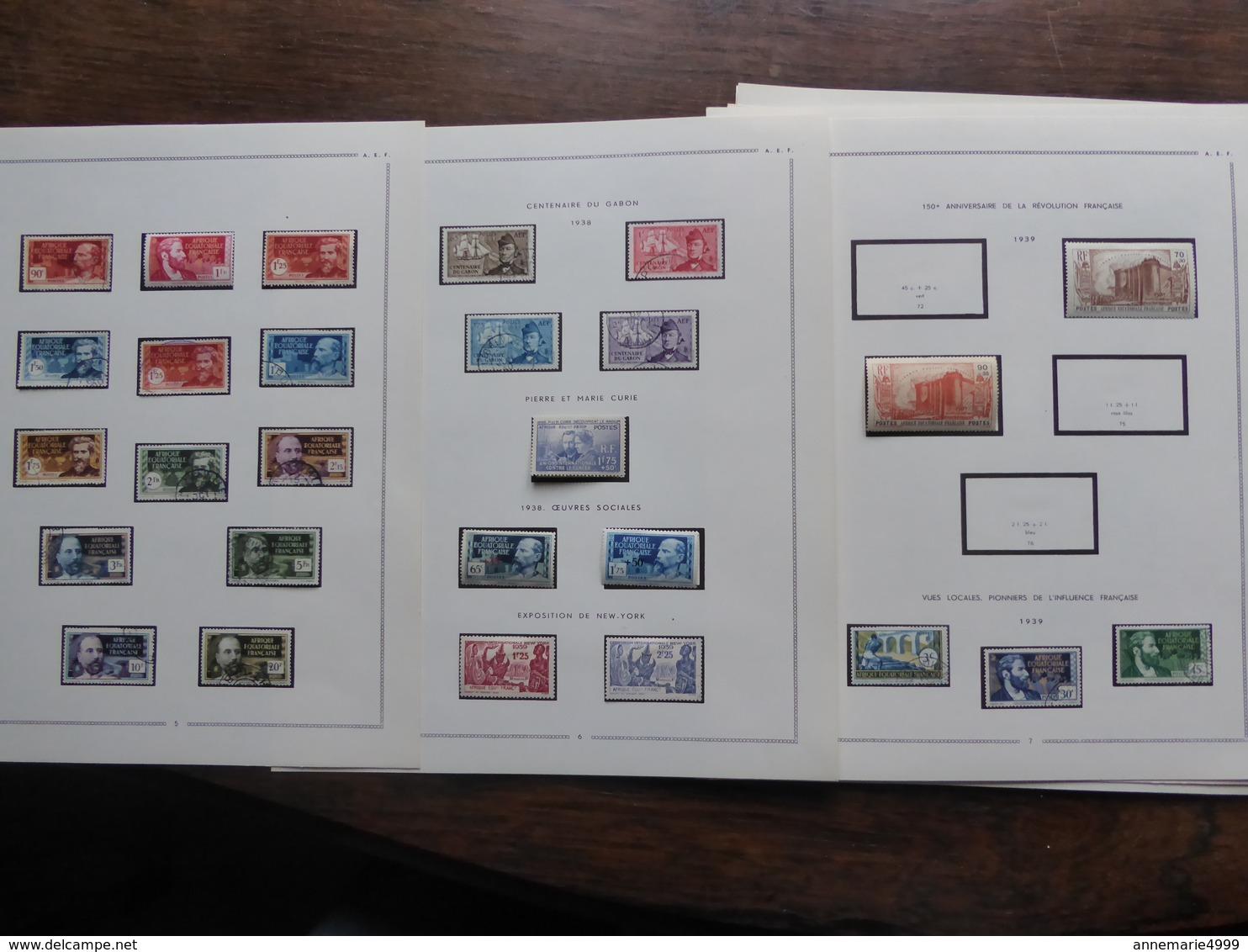 AFRIQUE EQUATORIALE FRANCAISE  AEF  Collection Cote : 700 € - Autres