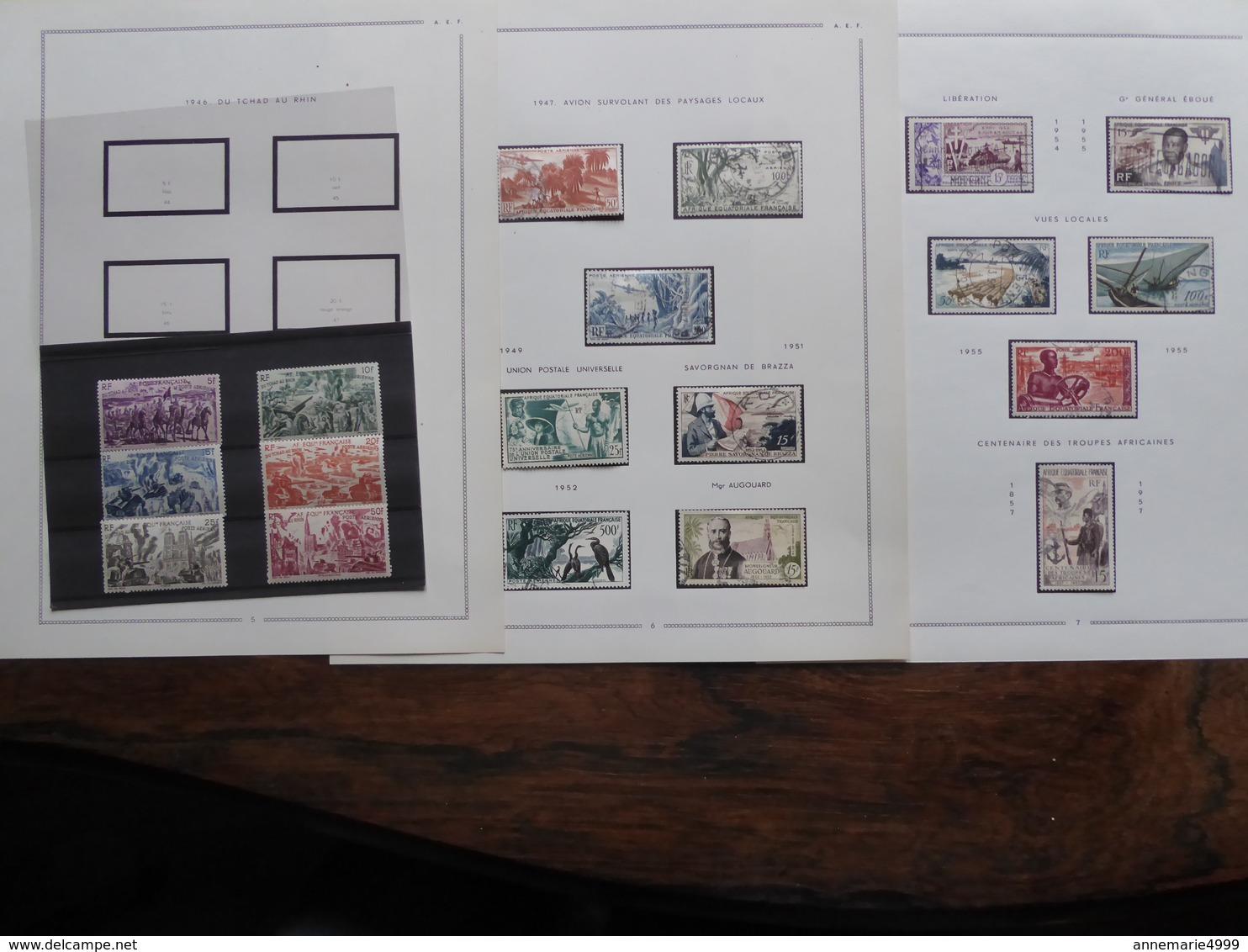 AFRIQUE EQUATORIALE FRANCAISE  AEF  Collection Cote : 700 € - A.E.F. (1936-1958)