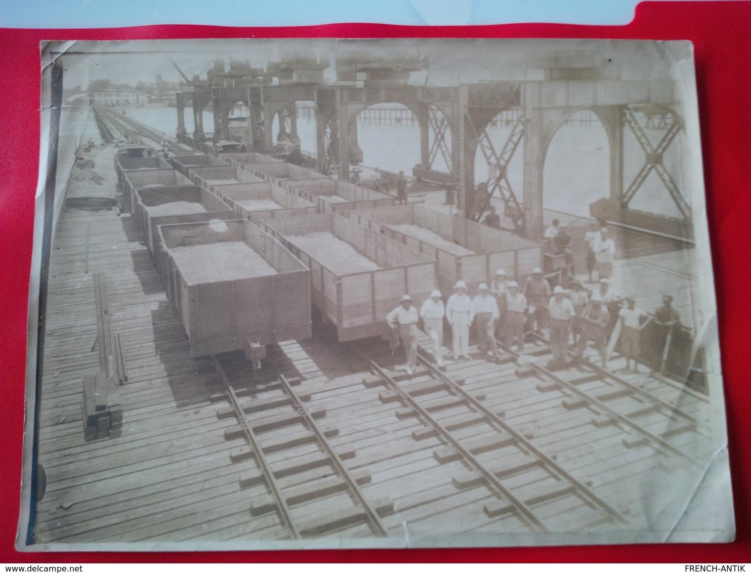 PHOTO LOME NOUVEAU WHARF 1928 TRAIN LE CAPITAINE DE GENIE DALAISE - Trains