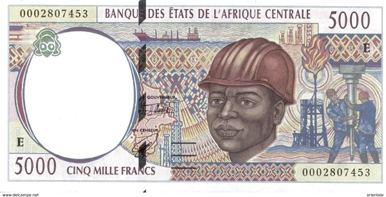 CENTRAL AFRICAN STATES P. 204Ef 5000 F 2000 UNC - Camerun