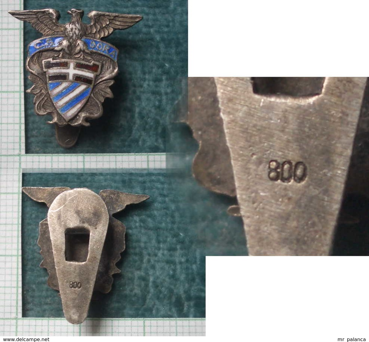 M_p> Pin's CS DORA Con Smalti Integri E Argento 800 - Associazioni