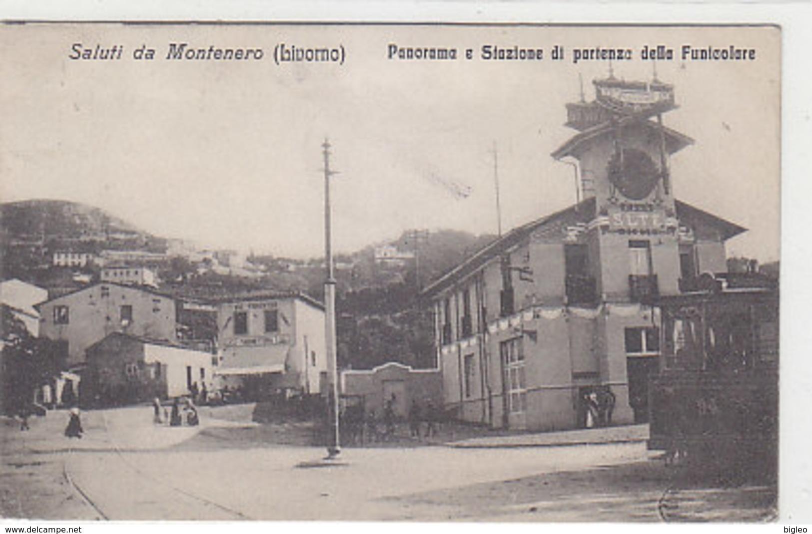Saluti Da Montenero (Livorno) - Stazione Funicolare - 1921           (A-141-190521) - Livorno