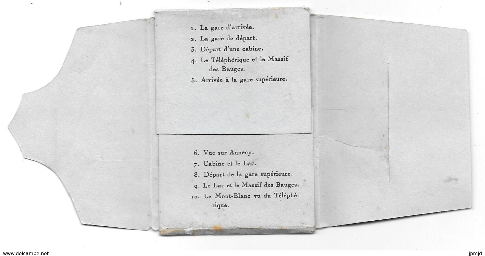 74 - TÉLÉPHÉRIQUE DE VEYRIER-DU-LAC - Recueil De 10 Vues Mignonnettes Format  6 X 9 Cm - éd. GIL, Annecy - Tbe - Veyrier