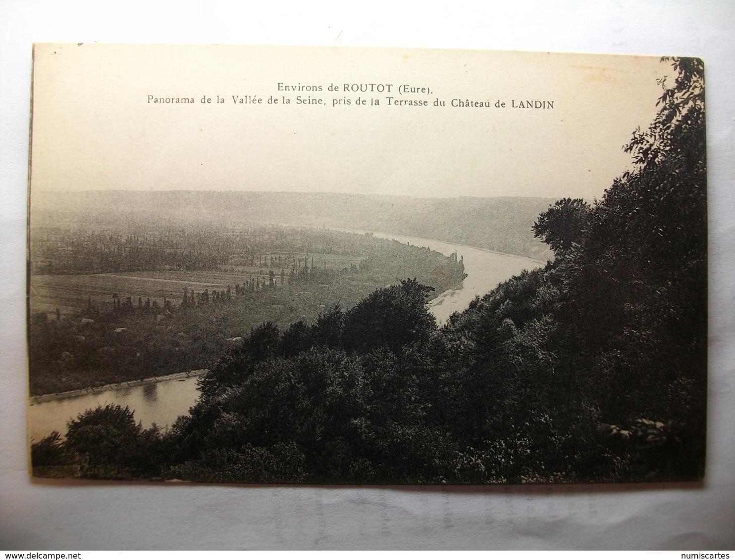 Carte Postale Environs De Routot (27) Panorama De La Vallée De La Seine Pris De La Terrasse Du Chateau De Landin - Routot