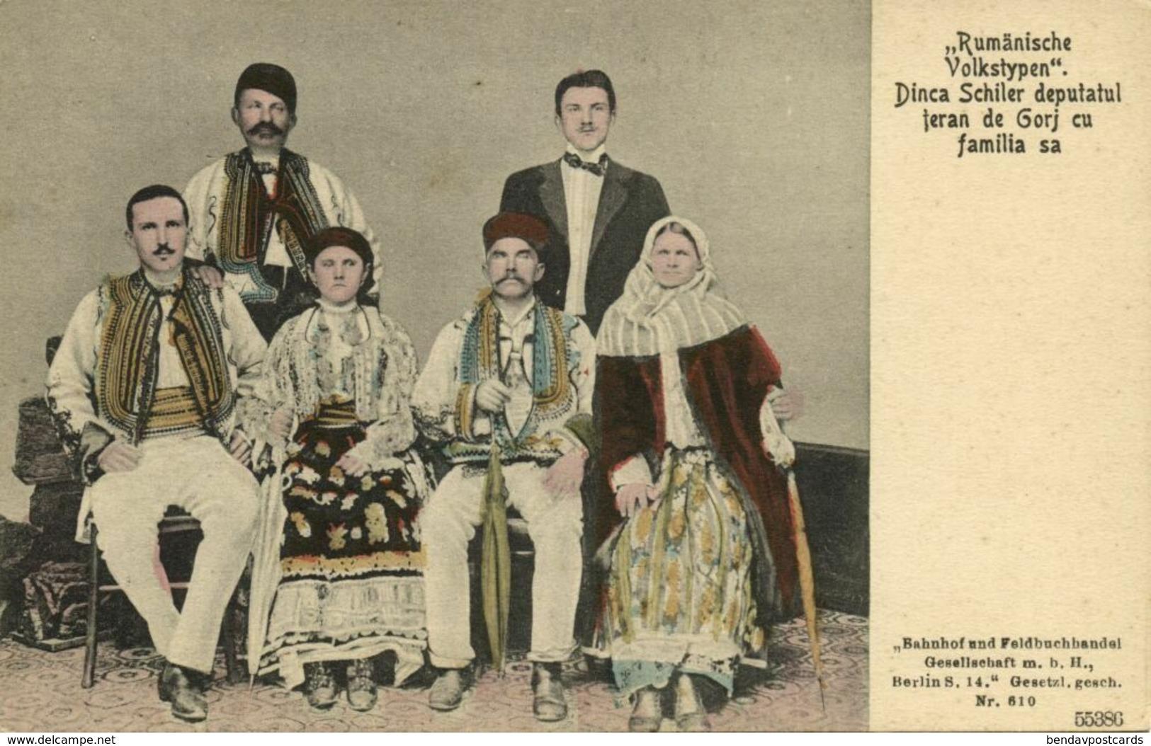 Romania, GORJ County, Deputy Dinca Schiler With Family (1910s) Postcard - Roemenië