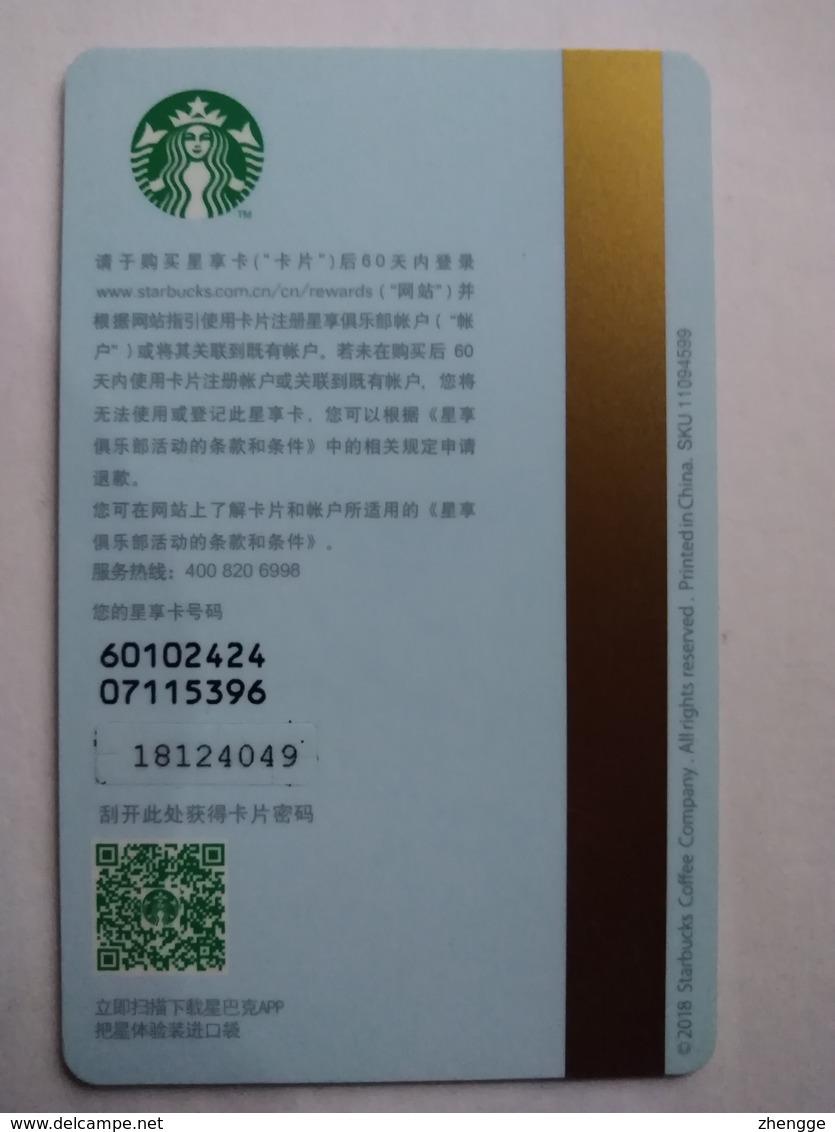 China Gift Cards, Starbucks, 2018 ,(1pcs) - Gift Cards