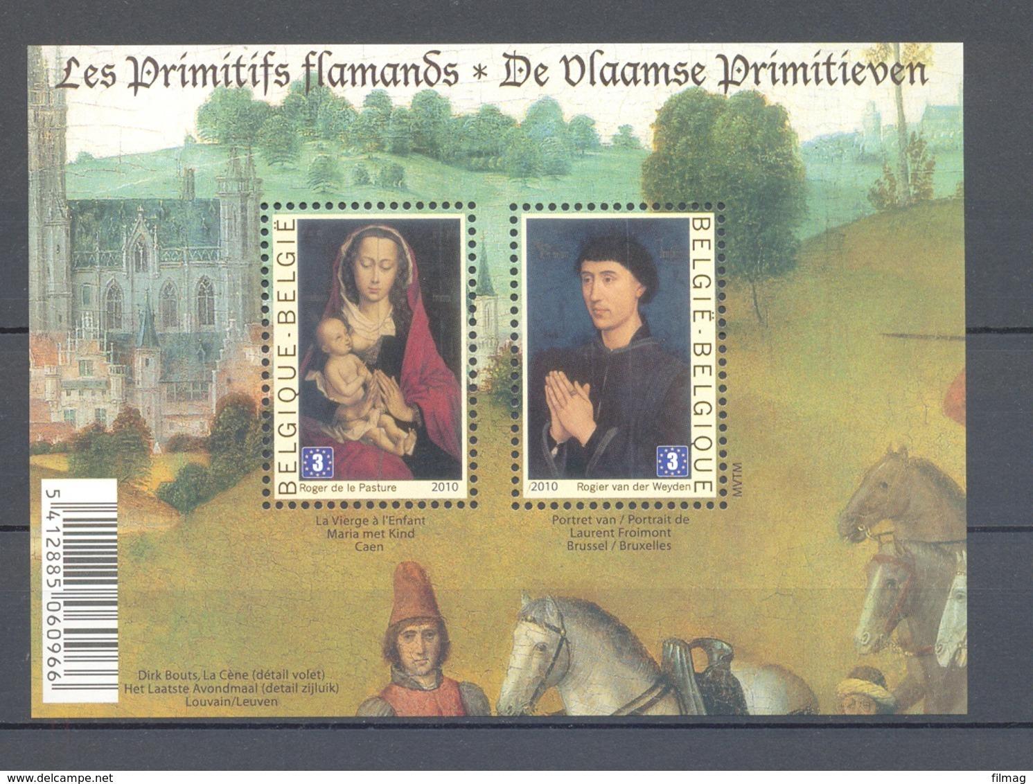 BLOK 185 Vlaamse Primitieven POSTFRIS** 2010 - Blocks & Kleinbögen 1962-....