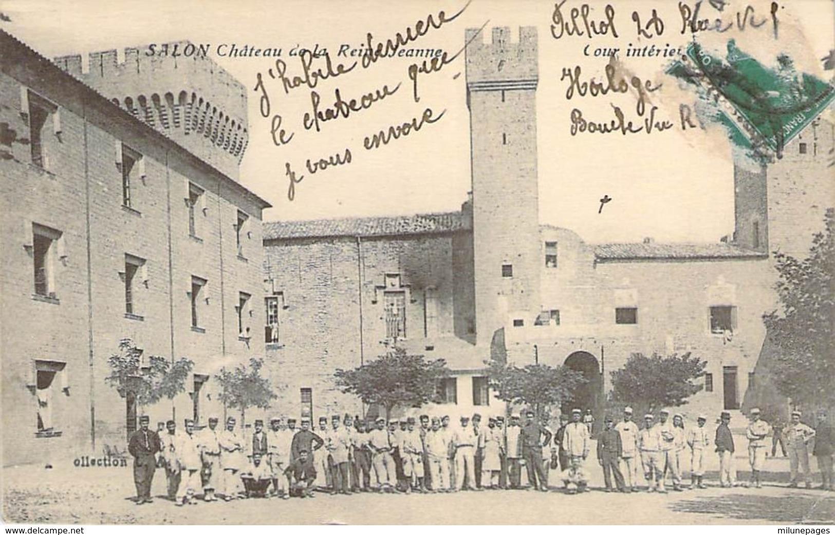 13 SALON De Provence Militaires Dans La Cour Intérieur Du Chateau De La Reine Jeanne - Salon De Provence