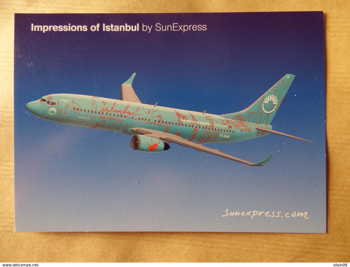 SUN EXPRESS B 737     AIRLINE ISSUE / CARTE COMPAGNIE - 1946-....: Era Moderna