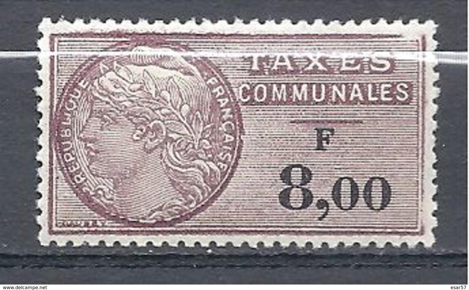FRANCE FISCAUX Taxes Communales N° 30 Neuf Luxe Très Petit Défaut Coin Droite En Haut - Fiscaux