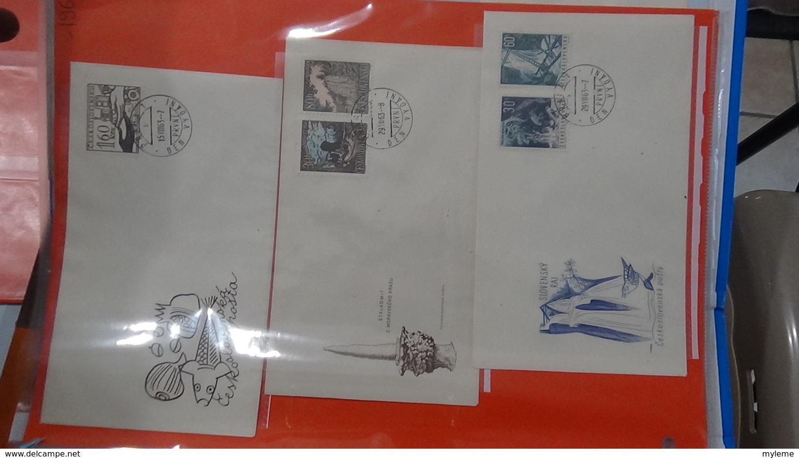 Lot De 52 Enveloppes 1er Jour De Tchécoslovaquie. A Saisir !!! - Timbres