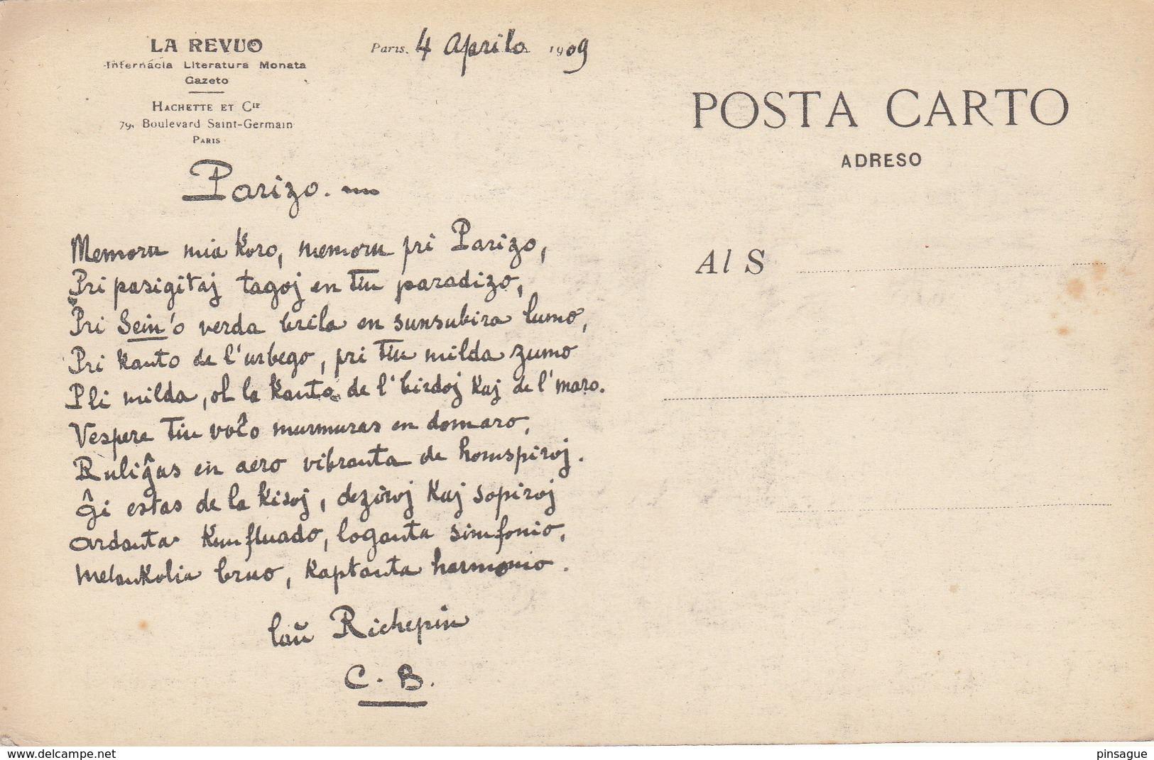ESPERANTO  1909 - Esperanto