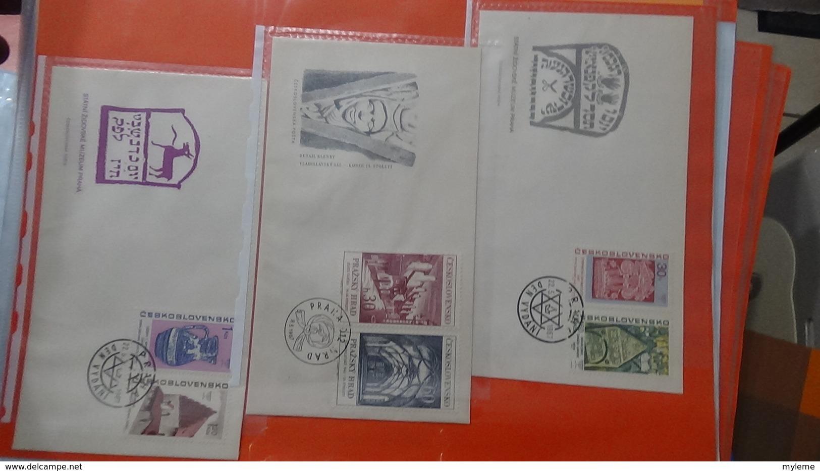 Lot De 101 Enveloppes 1er Jour De Tchécoslovaquie. A Saisir !!! - Timbres
