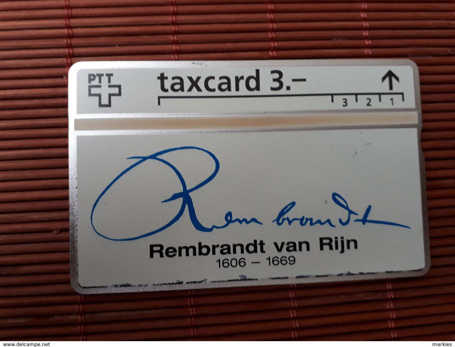 Phonecard Zwitserland Rembrandt Van Rijn 306 L (Mint,Neuve) Rare - Schweiz