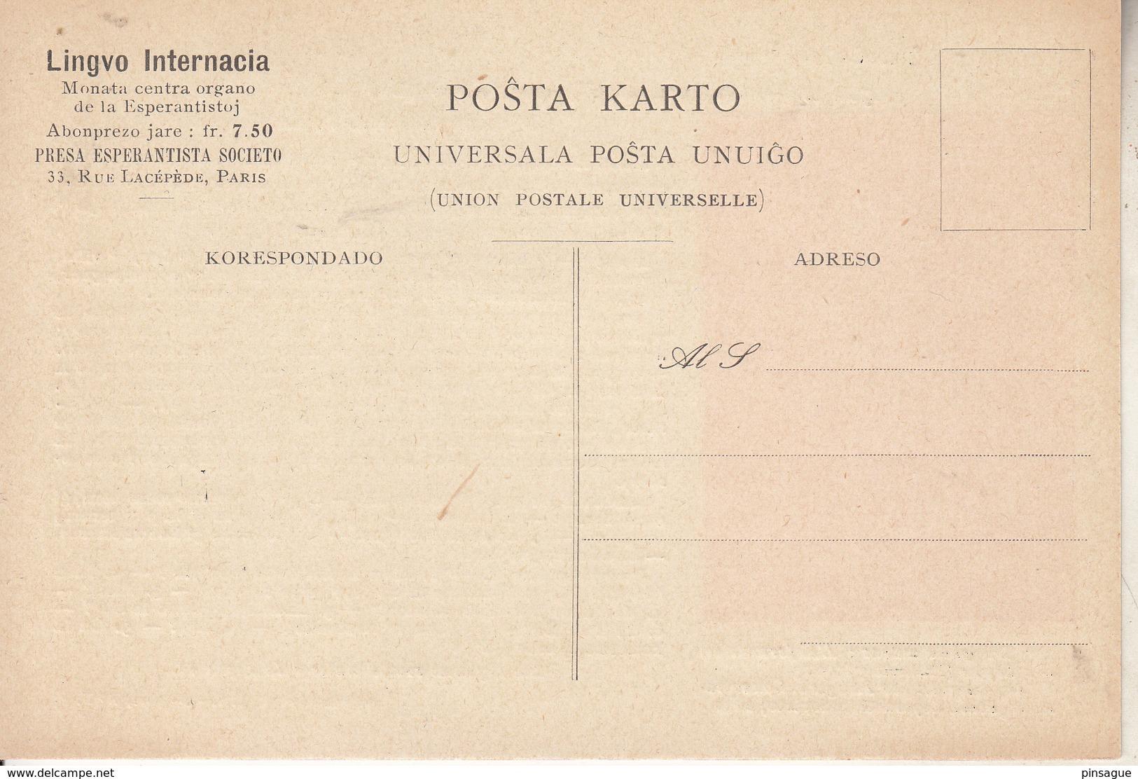 L'ESPERANTO  Par La FABLE - N° 11   LA  MUELISTO, LIA  KAJ  LA  AZENO -  Un Meunier Avec Son Fils Et Un âne (suite) - Esperanto
