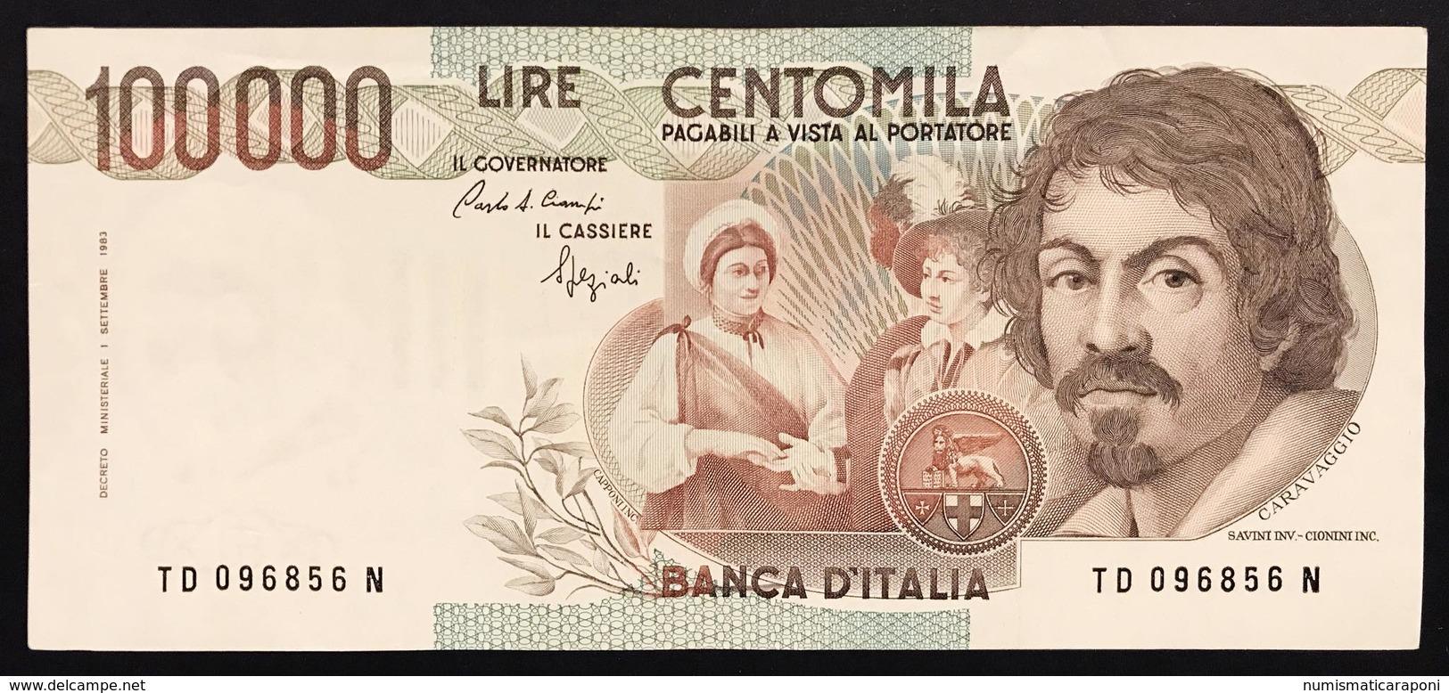 100000 Lire CARAVAGGIO 1° TIPO SERIE D 1990 Q.spl LOTTO 2266 - 100.000 Lire