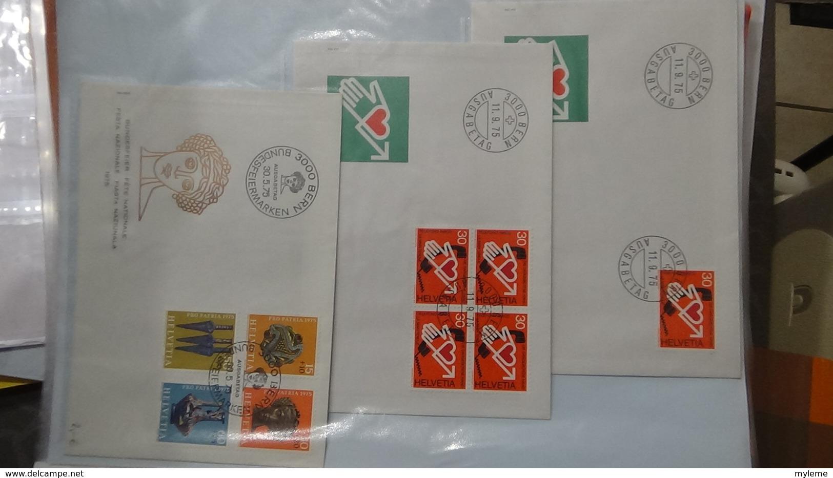 Lot De 53 Enveloppes 1er Jour Et Autres De Suisse. A Saisir !!! - Timbres