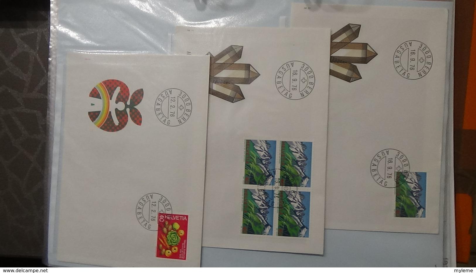 Lot De 53 Enveloppes 1er Jour Et Autres De Suisse. A Saisir !!! - Collections (en Albums)
