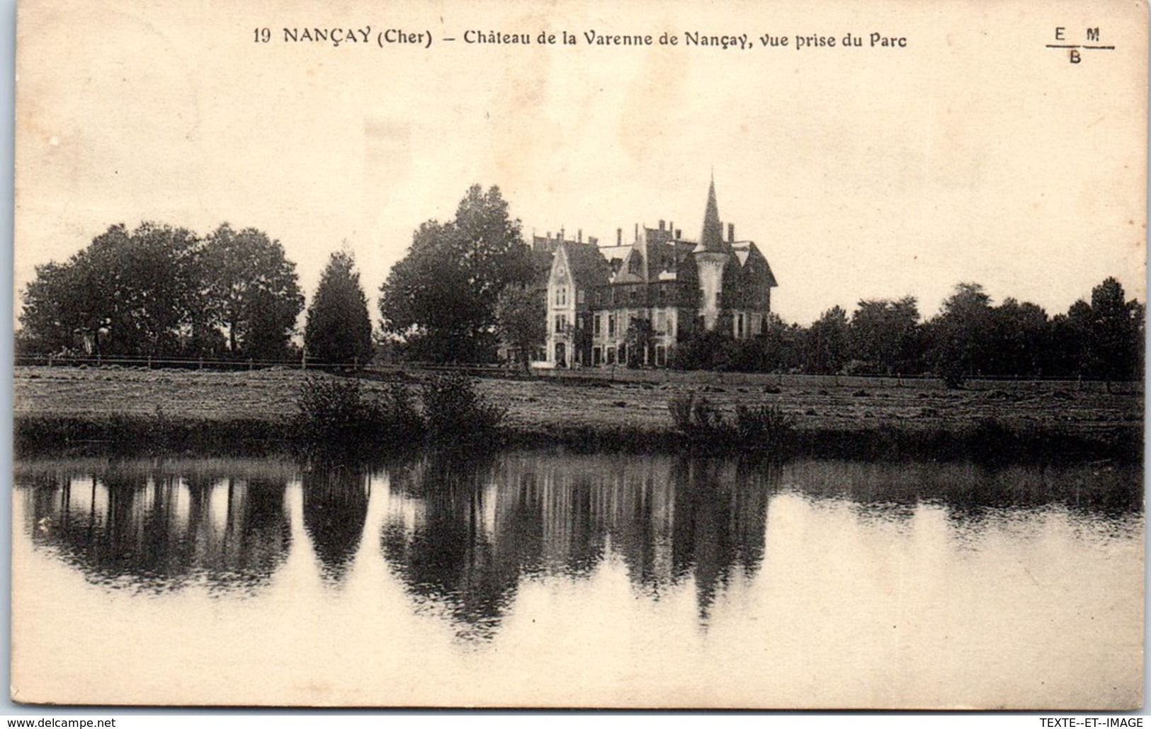18 NANCAY - Château De La Varenne [REF/S010884] - Nançay