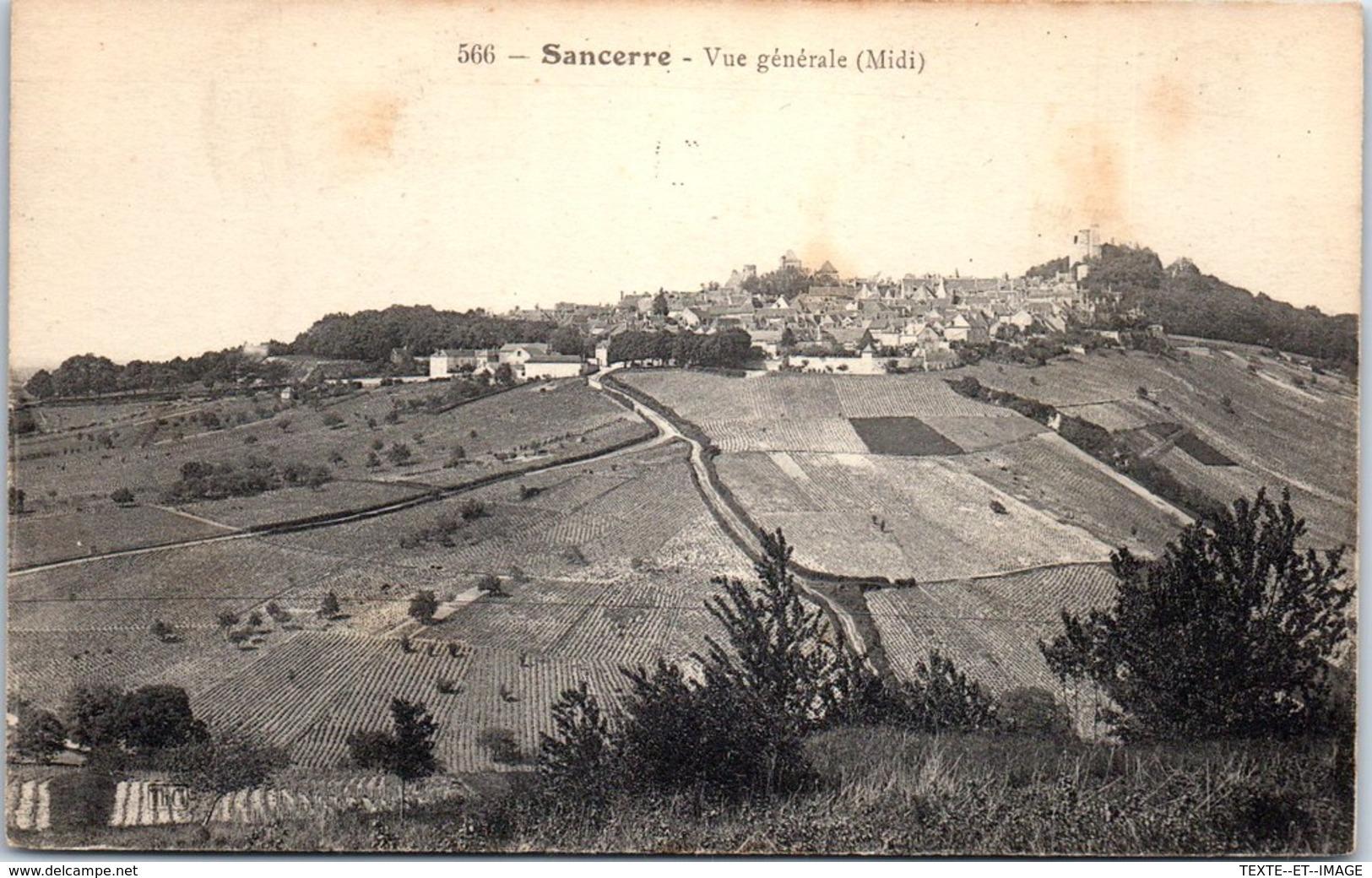 18 SANCERRE - Vue Générale [REF/S010849] - Sancerre
