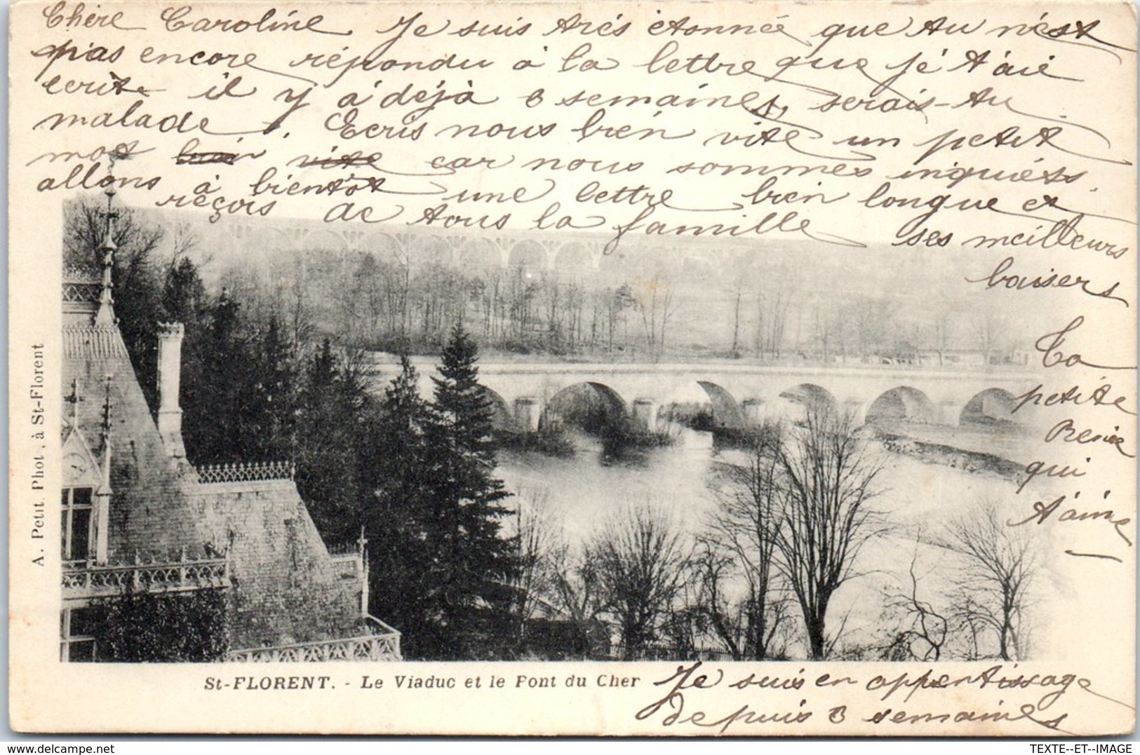 18 ST FLORENT - Le Viaduc Et Le Font Du Cher [REF/S010809] - Saint-Florent-sur-Cher