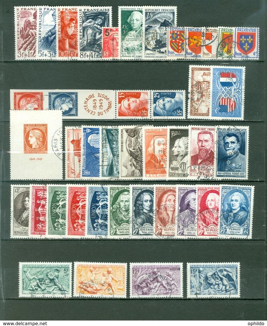 France  Année Complète 1949  Ob  TB - 1940-1949