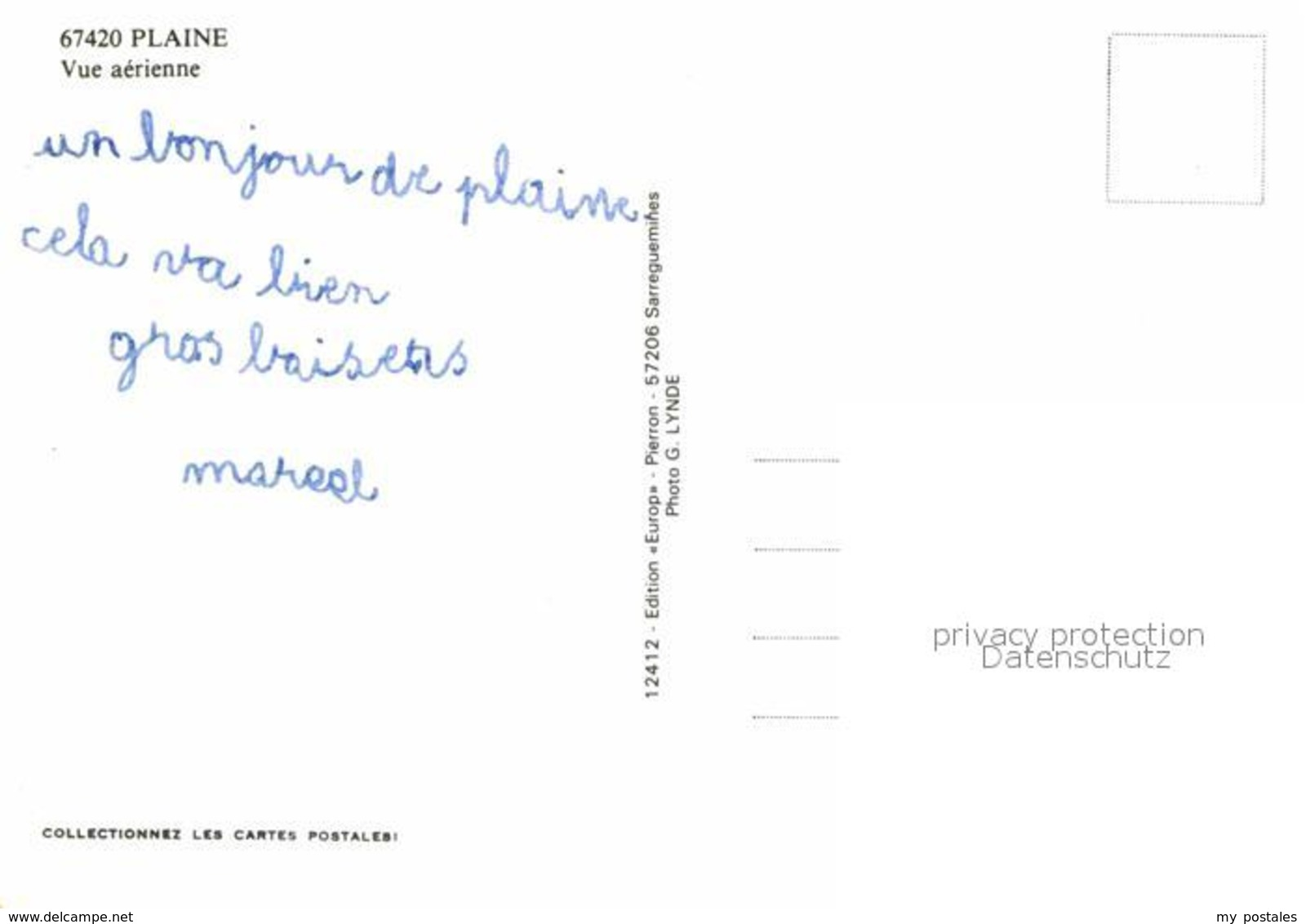 12904277 Plaine Elsass Fliegeraufnahme Plaine - Non Classés