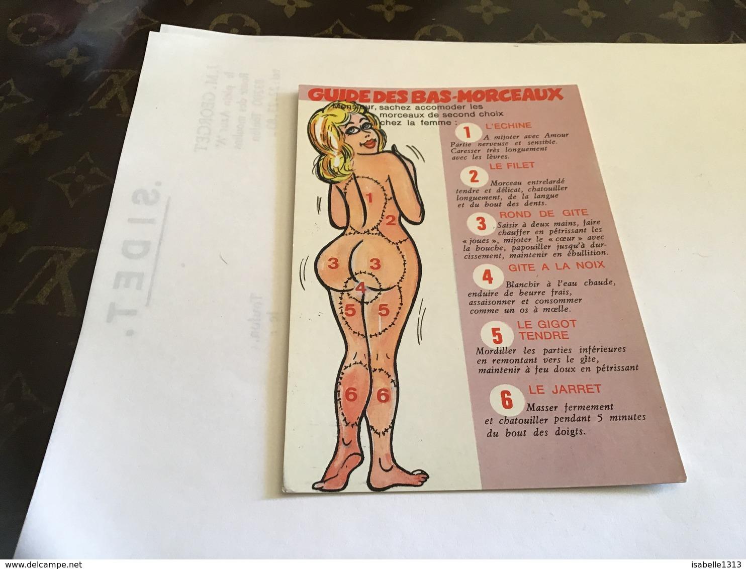 Carte Humoristique Humour Guide Des Bains Morceau Femmes Nues Monsieur Sachez Accorder Les Morceaux De Second Choix Chez - Humour