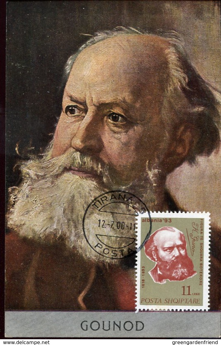 49474 Albania, Maximum 2000  Music Opera Composer  Charles Gounod (vintage Card) - Music