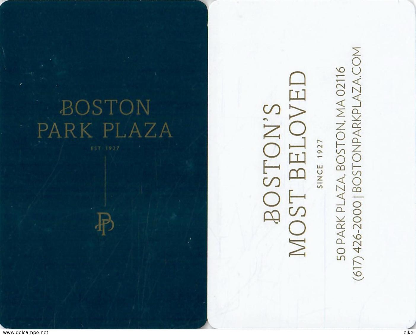 Boston Park Plaza-2471---key Card, Room Key, Schlusselkarte, Hotelkarte - Cartas De Hotels