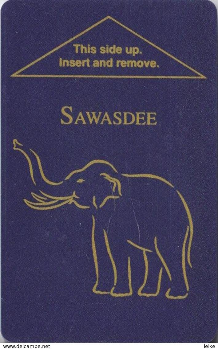 Sawasdee-Bangkok[2481]-----key Card, Room Key, Schlusselkarte, Hotelkarte - Cartas De Hotels