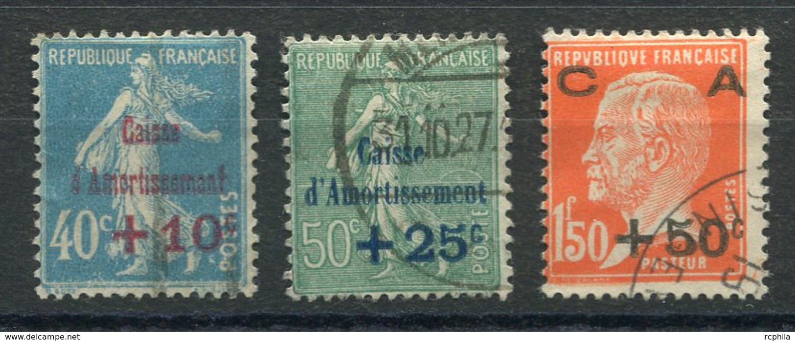 RC 14734 FRANCE N° 246 / 248 SERIE CAISSE D'AMORTISSEMENT COTE 33€ OBLITÉRÉE TB - Oblitérés