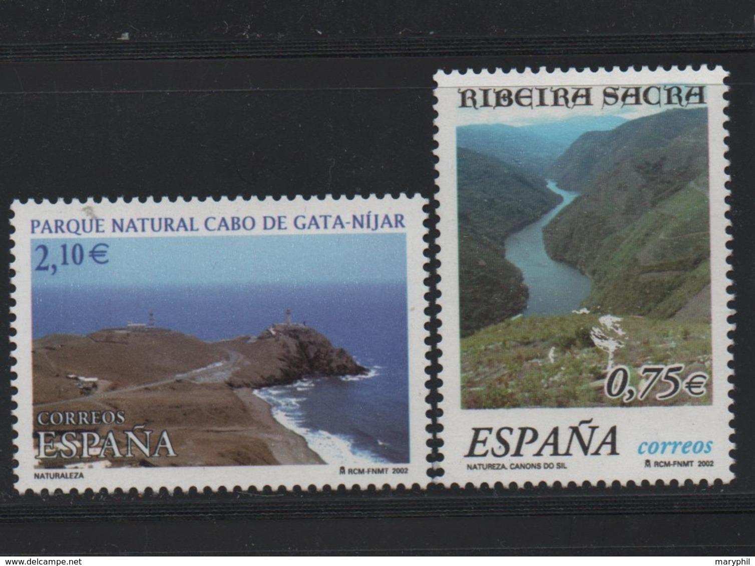 LOT 74 - ESPAGNE N° 3459/3450 **   PARC NATUREL - Holidays & Tourism