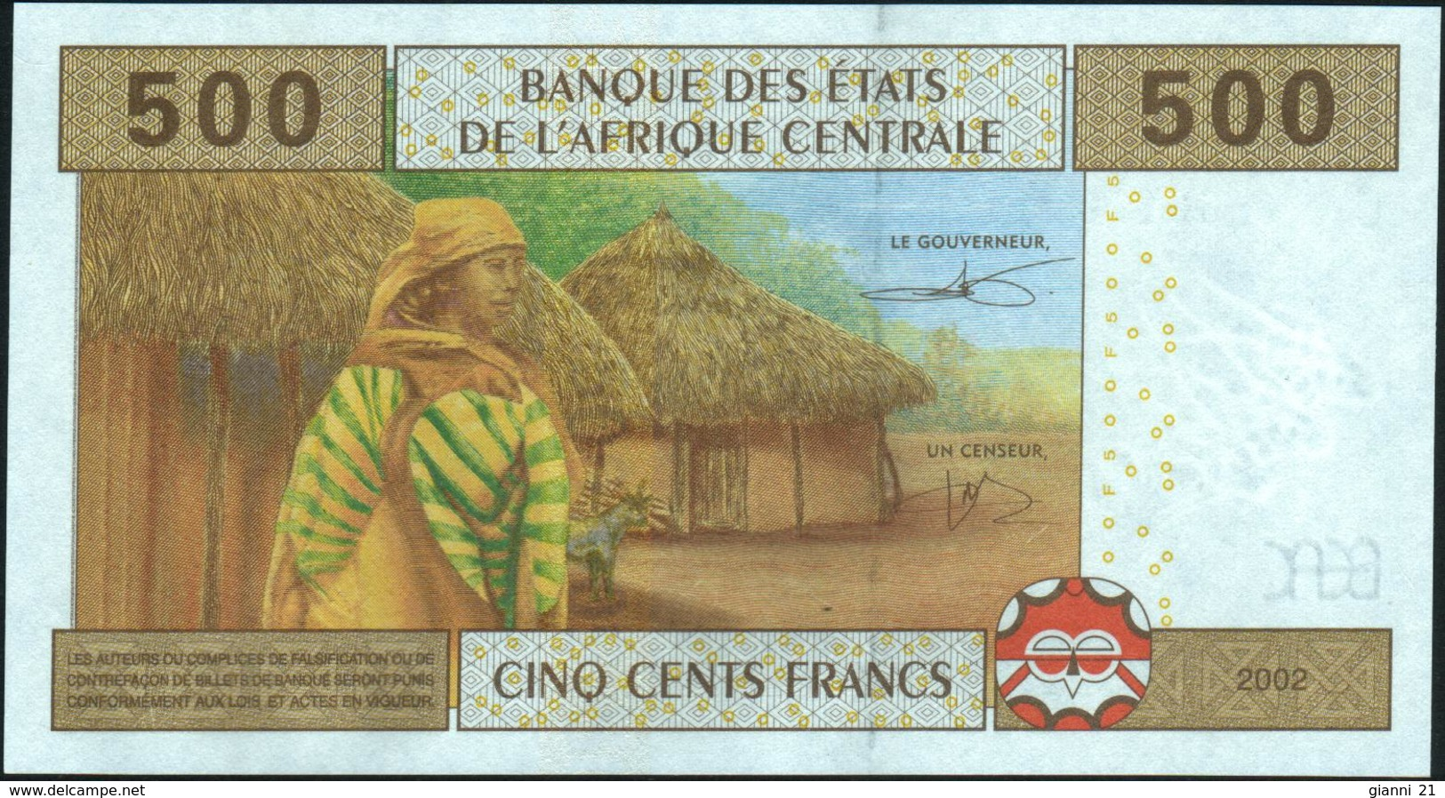 CENTRAL AFRICAN STATES - 500 Francs 2002 {Chad #C} UNC P.606 Cc - Chad