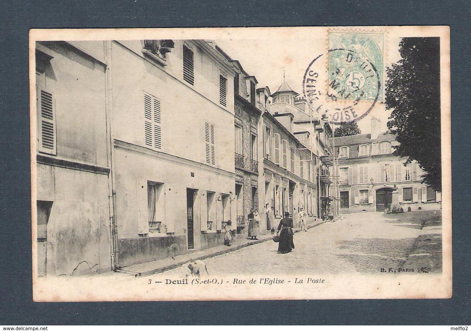 95  -  DEUIL     N° 3   RUE DE L EGLISE  -  LA POSTE - Deuil La Barre