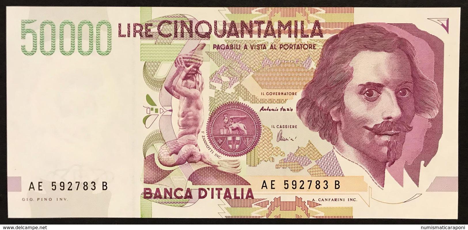 50000 Lire BERNINI II° TIPO SERIE E 1999 Q.fds/fds  LOTTO 3003 - [ 2] 1946-… : Repubblica