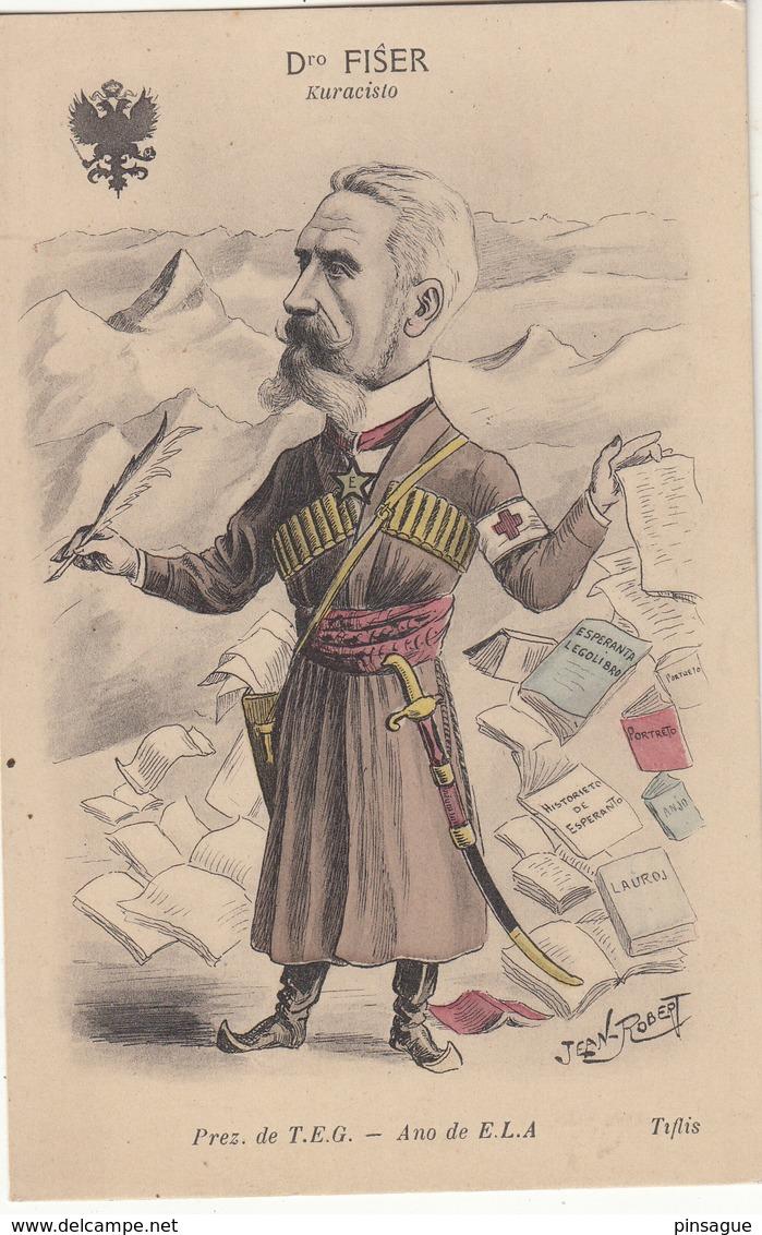 ESPERANTO : Illustrateur Jean ROBERT -   Dro FISER    Kuracisto - Esperanto