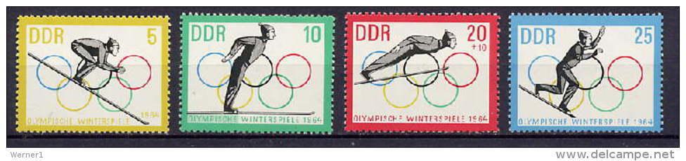 DDR 1963 Olympic Games Innsbruck Set Of 4 MNH - Winter 1964: Innsbruck