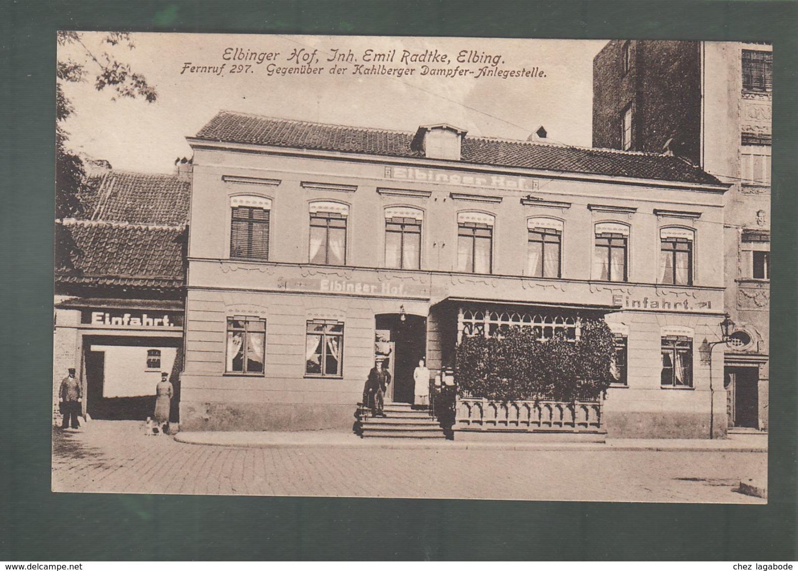 CPA (Pol.) Elbinger Hof. Inh Emil Radtke - Elbing - Pologne