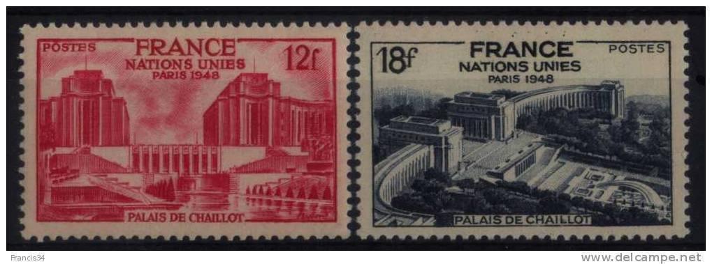 N° 818 Et N° 819 - X X - ( F 267 ) - ( Assemblée Générale Des Nations Unies - Palais De Chaillot - Paris ) - Frankrijk