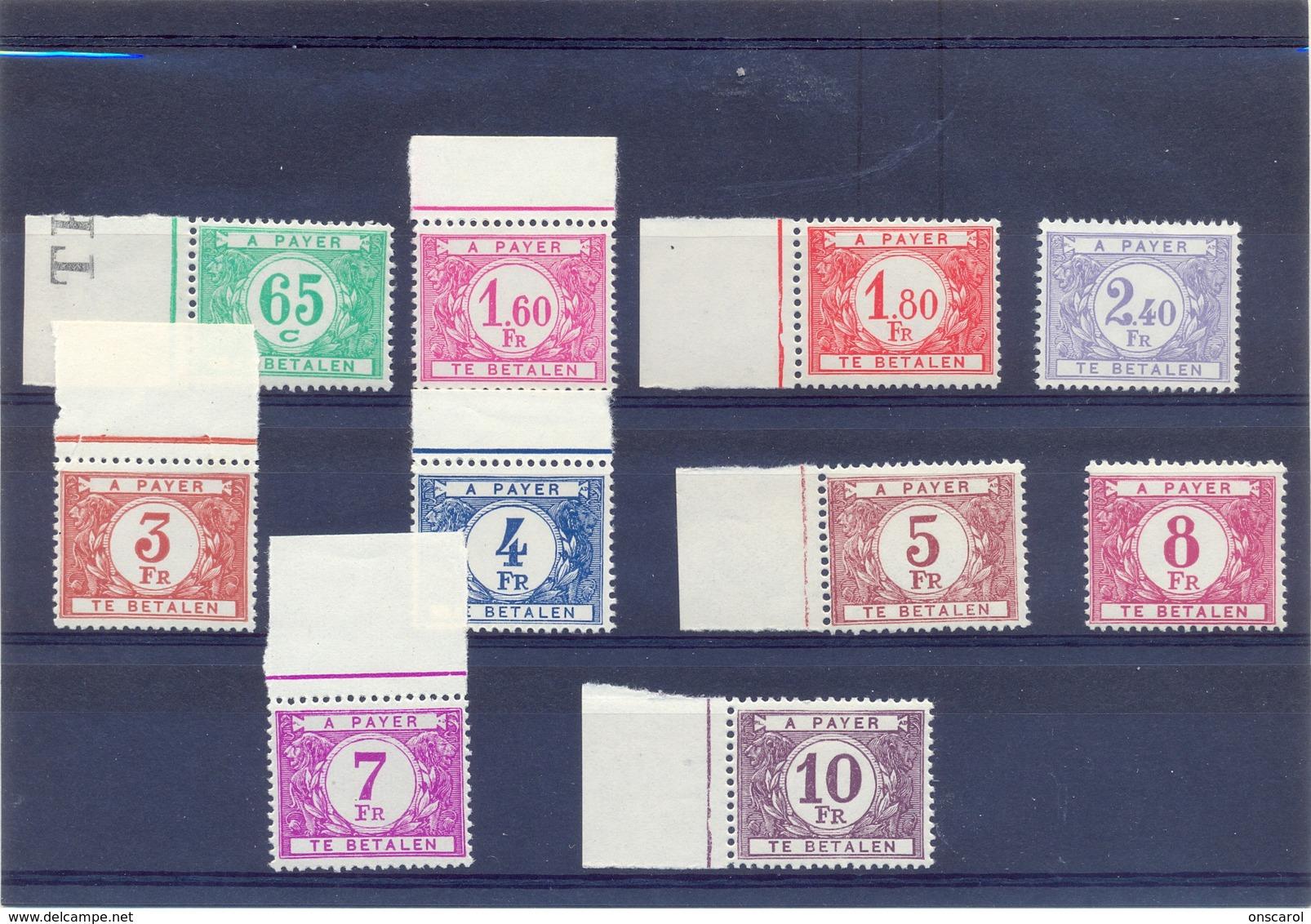 Nrs.TX56/TX65  Postgaaf ** Zeer Mooi MNH - Portomarken