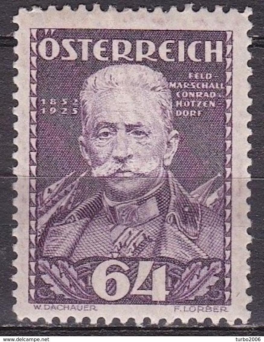 Osterreich / Austria 1935 Wohlfahrt Feldmarschall Conrad V. Hötzendorf 64 + 64 G Braunviolett Mi 622 Falzlos - 1918-1945 1ste Republiek