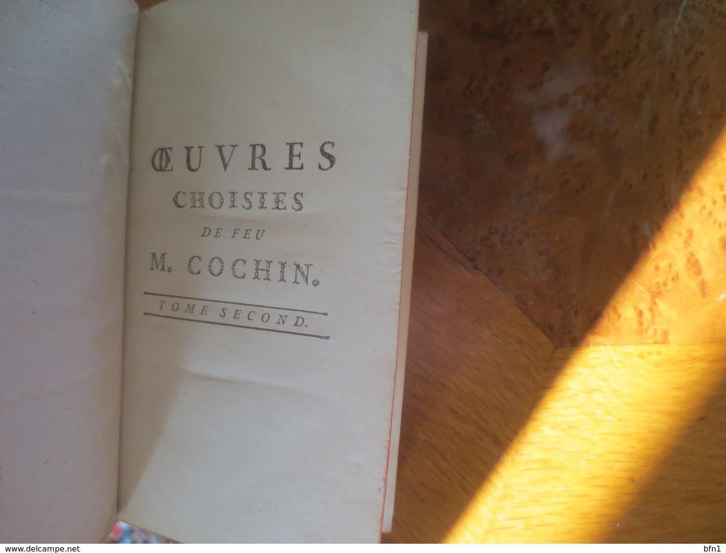 Oeuvres Choisies De Feu De M. Cochin, écuyer, Avocat Au Parlement Cochin  1778- Tome II - 1701-1800