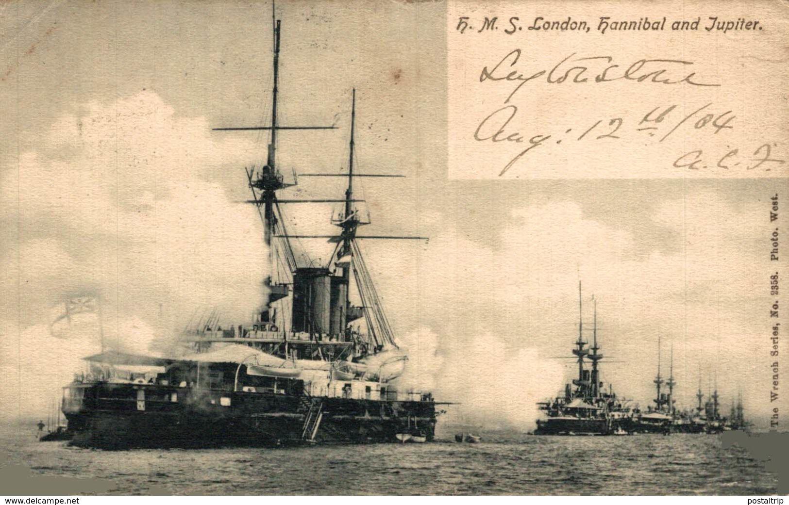 HMS LONDON HANNIBAL JUPITER - Guerra