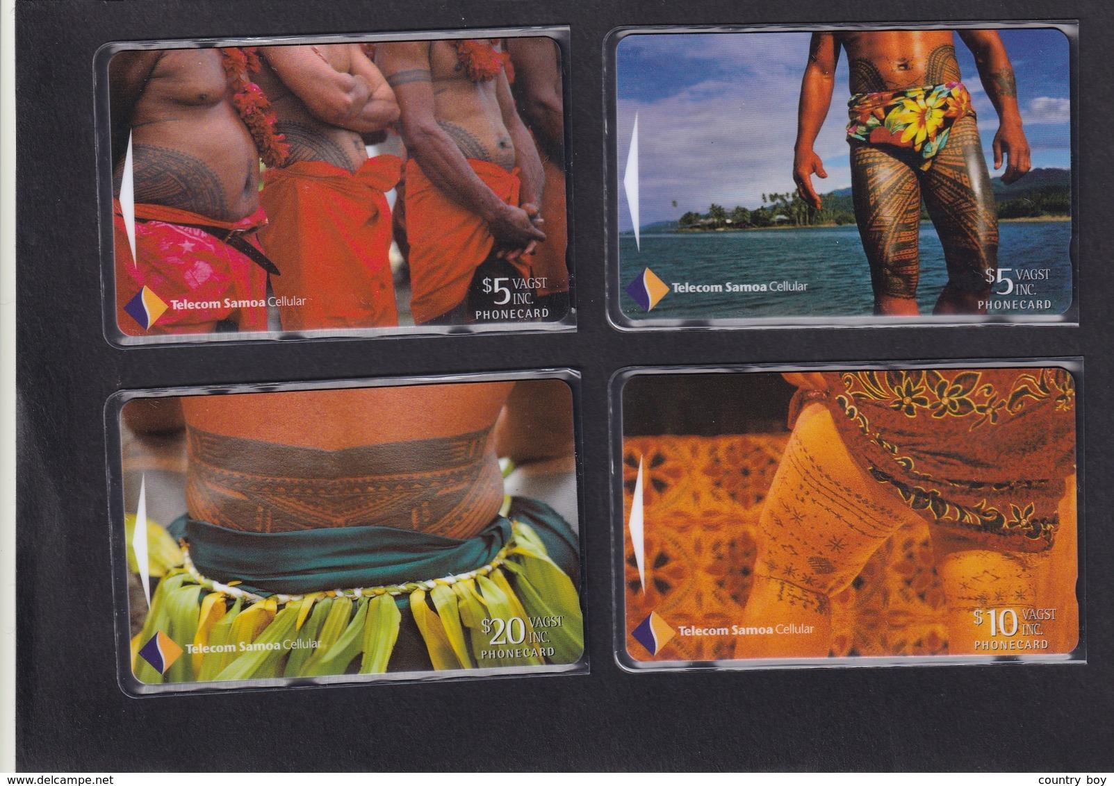 WESTERN SAMOA , TATTOO ART SET , MINT - Samoa