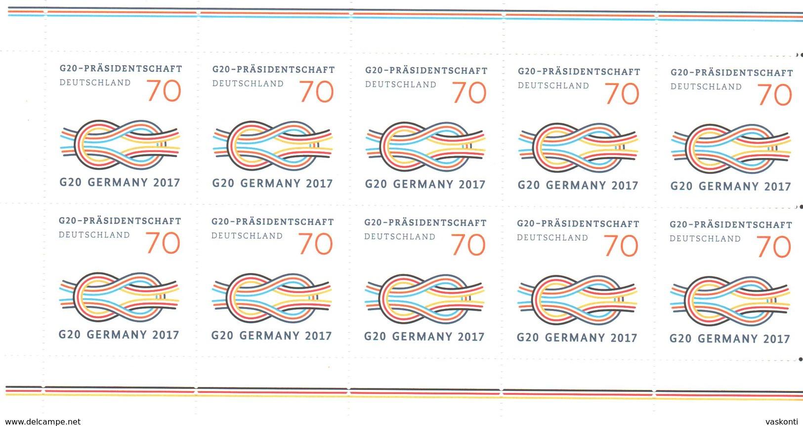 Germany 2017 MNh Bogen - [7] République Fédérale