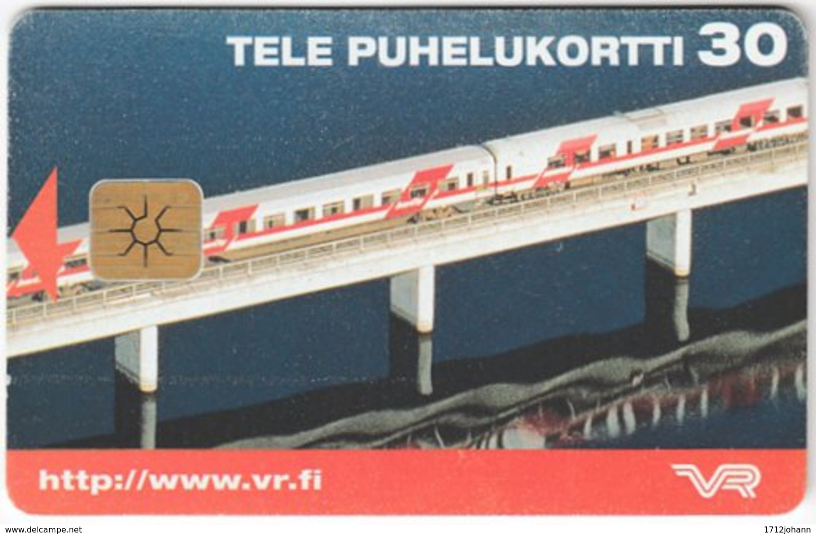 FINLAND A-867 Chip Tele - Traffic, Bridge, Railway - Used - Finnland